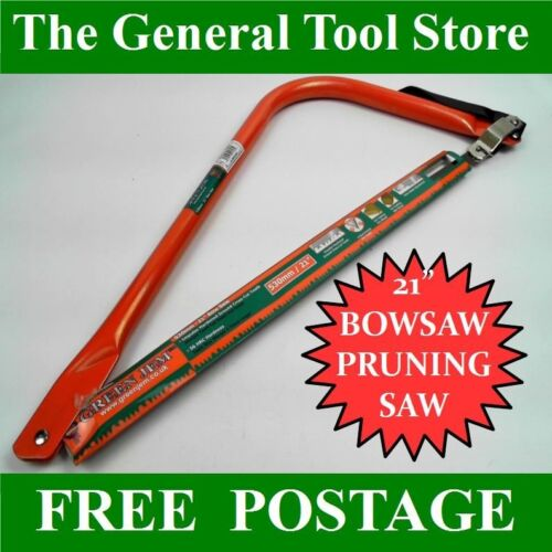 """21/"""" 530 MM BOWSAW HEAVY DUTY QUALITY SAW FOR PRUNING BRANCHES HARDENED  BLADE"""