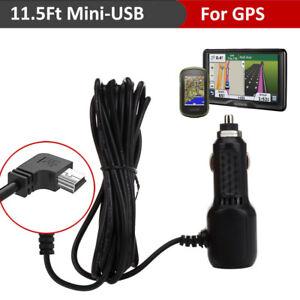 Mini USB Car Charger Power Adapter Cable For Garmin Nuvi GPS Car Dash Camera DVR