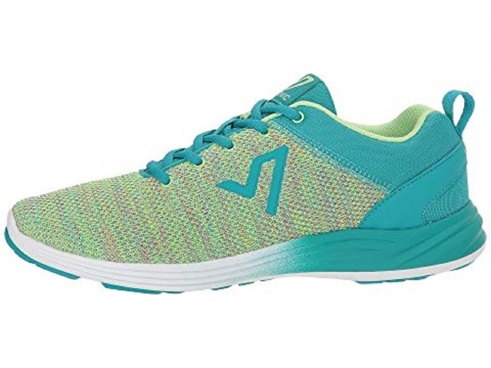 VIONIC Ladies AGILE ADLEY Lace-Up Knit Walking shoes TEAL MULTI MULTI MULTI Sz. 9.5  WIDE NIB f01ae1