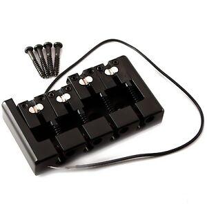 black bass bridge piezo for electric bass guitar b41 d6bk ebay. Black Bedroom Furniture Sets. Home Design Ideas