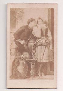 Vintage-CDV-Album-Filler-The-Old-Story-Young-Lovers