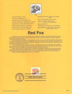 9824A-1-00-Red-Fox-Stamp-3036-Souvenir-Page