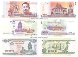 Coins & Paper Money New Unc Lot 10 Consecutive Notes Imported From Abroad Cambodia 1000 Riels 2012 P