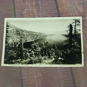 RPPC-Emerald-Bay-amp-Lake-Tahoe-Putnam-amp-Valentine-Vintage-Postcard