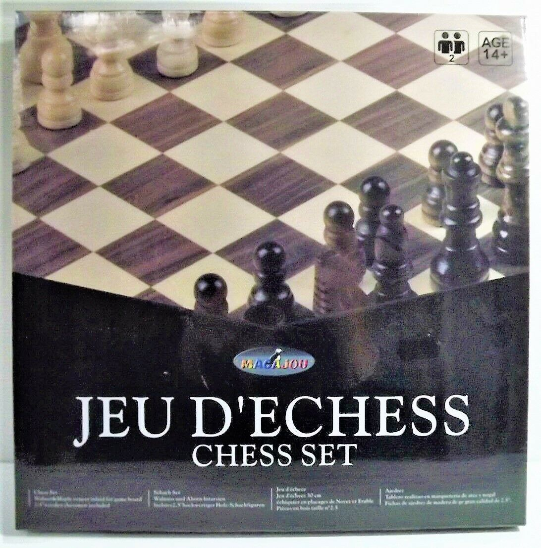 Set'Chess 30 cm - Chess Set - Piece wood - Maoajou - AGE +14 Ans NEW