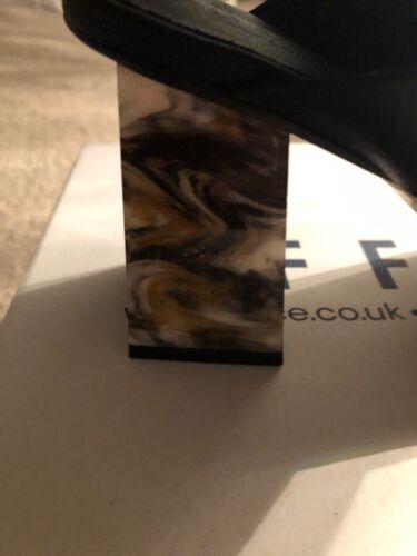 Zapato De Oficina Botas Damas Negras Talla 41 en Caja tortuga talón £ 37. puntera cuadrada!
