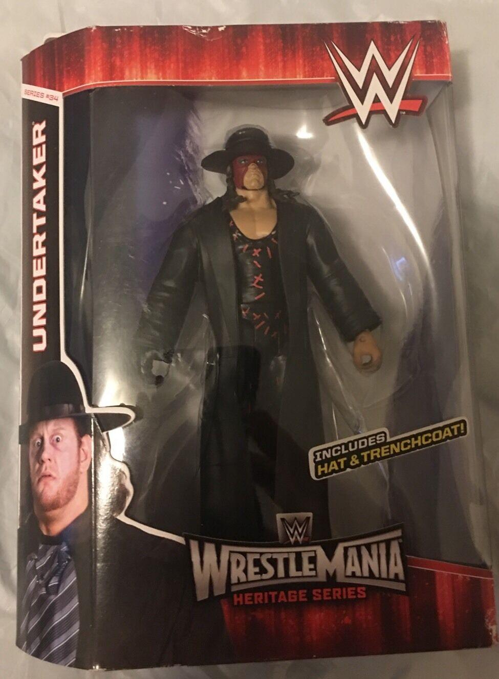WWF WWE ELITE 31 34 Error Variante UNDERTAKER KANE underkane figura sin abrir