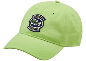 Supreme x Lacoste SS18 Twill 6 Panel Green Hat Baseball Cap  06147387f33