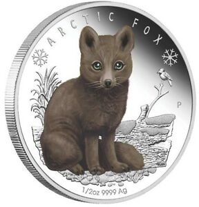 2017 Polar Babies Arctic Fox Tuvalu 1//2oz Silver Proof 50c Half Dollar Coin