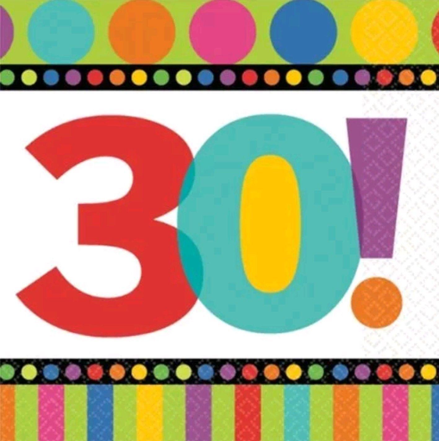30th Compleanno Compleanno Compleanno Tovaglioli a6e7ad