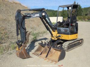 2011 John Deere 27D Mini Excavator Rubber Track Hoe Aux Hyd Thumb Diesel bidadoo