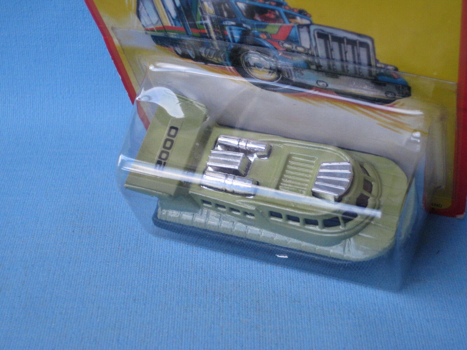 LESNEY MATCHBOX SUPERFAST 2 Rescue Hovercraft 2000 Label dans BP 75 mm Toy Model