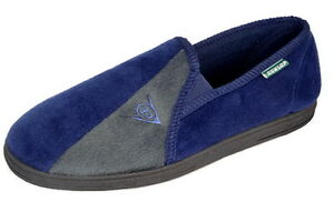 Mens Famous Dunlop 'WINSTON ll' Slippers with Extra Cushioned In-sock NAVY