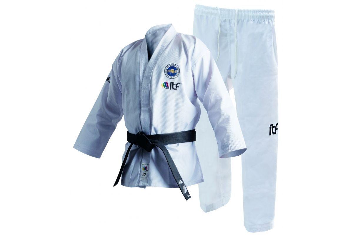 Adidas Taekwondo Suit ITF CLUB Adult Kids  Uniform White Dobok Gi TKD  save 60% discount