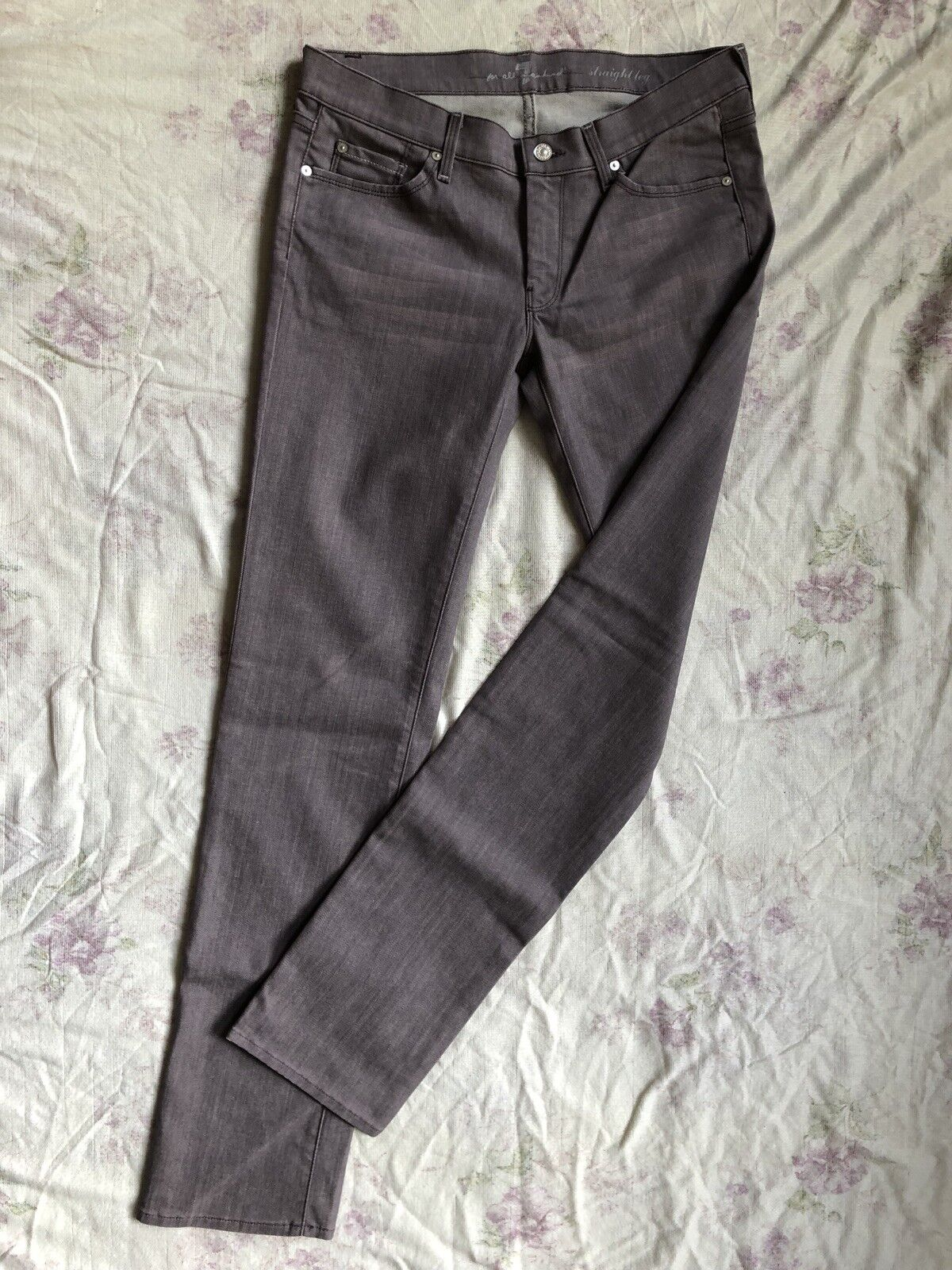 7 SEVEN for all MANKIND Straight Leg Jeans Stretch W31 L36 low waist