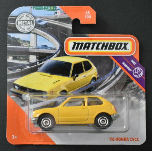 Matchbox 2020/'76 honda CVCC Yellow MBX Highway nuevo embalaje original /&