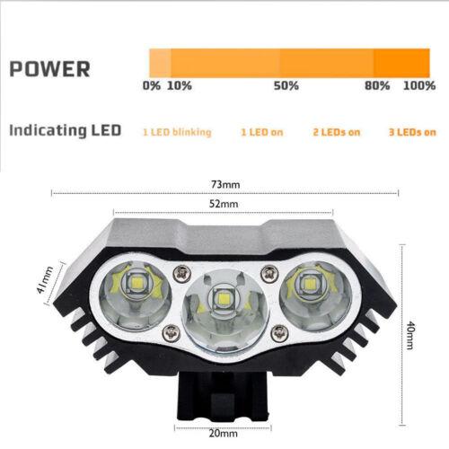 10000LM 3LED Fahrradbeleuchtung Set FahrradLicht Scheinwerfer Fahrradlampe Stvzo