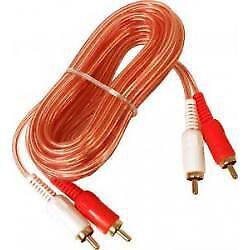 5 Mètres Ofc Rca à Câble Voiture 2 Canaux Transparent Stéréo Amp Phono Best ! Avec Les éQuipements Et Les Techniques Les Plus Modernes
