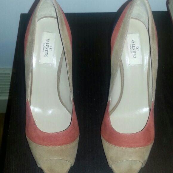 Gentlemen/Ladies Valentino peep-toe pumps High-quality Online Popular tide shoes