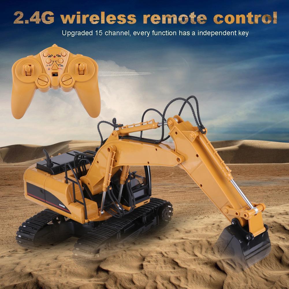 2.4G 1:14 15Kanal RC Elektrische  Bagger Baufahrzeug mit Fernbedienung Spielzeug