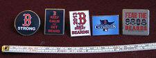 Set 5 The Boston Red Sox Baseball Pins B STRONG 2013 WORLD SERIES FEAR BEARDS