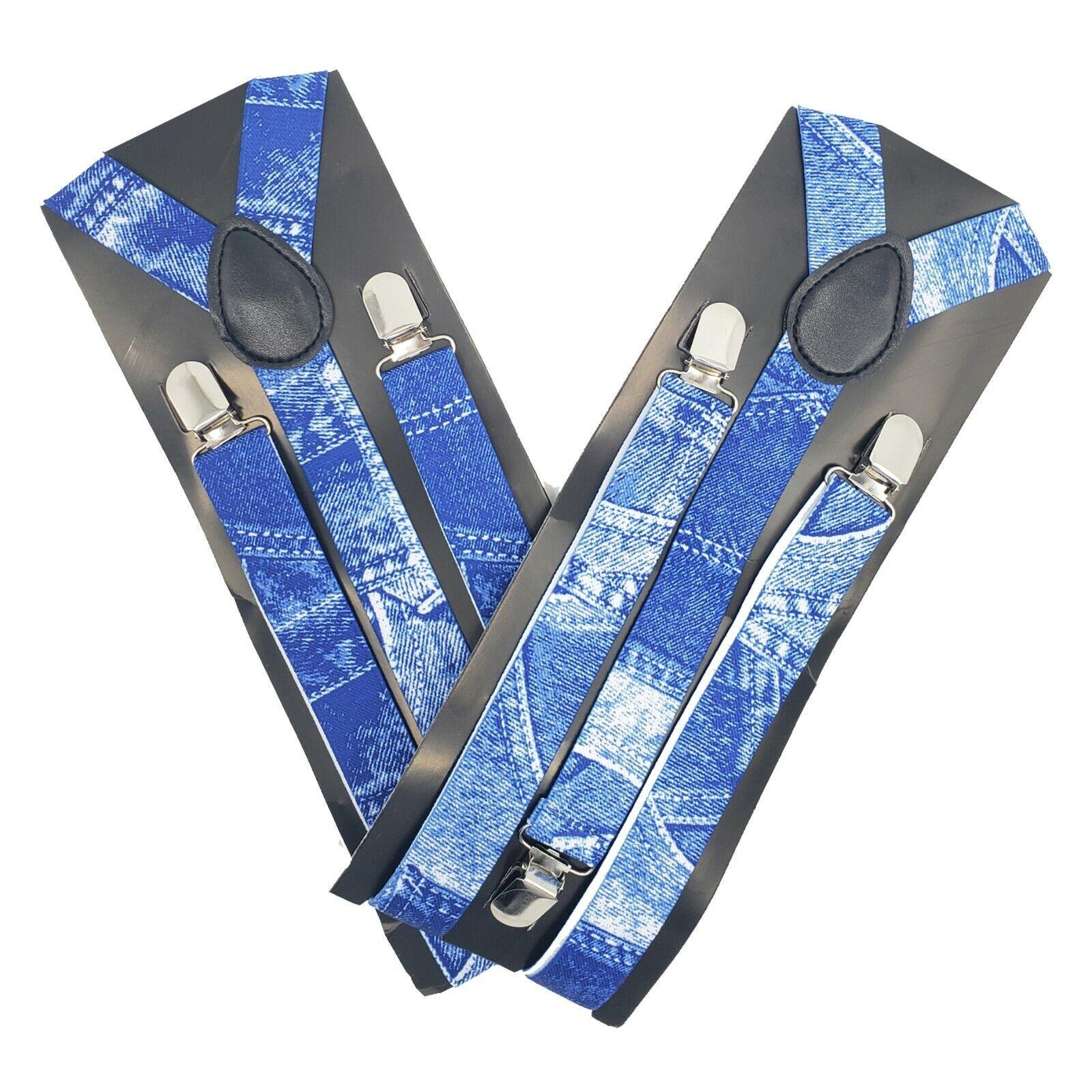 2 Pack Suspenders Adjustable Elastic Y Back Style w/Metal Clips for Men & Women