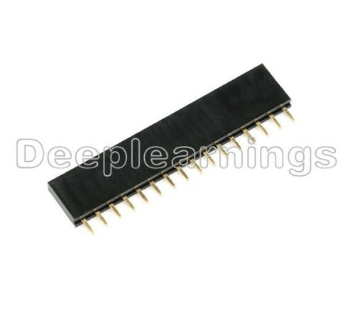 10PCS NEW 16 Pin Single Row Female Straight Header Strip 2.54mm Pitch