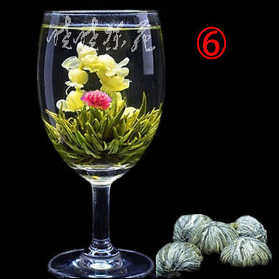 Wholesale New Designed Beautiful Different Handmade Blooming Flower Green Tea