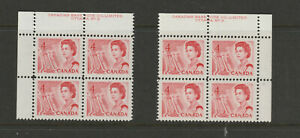 CANADA-457iv-matched-set-plate-blocks-fluo-pva-3-VFNH
