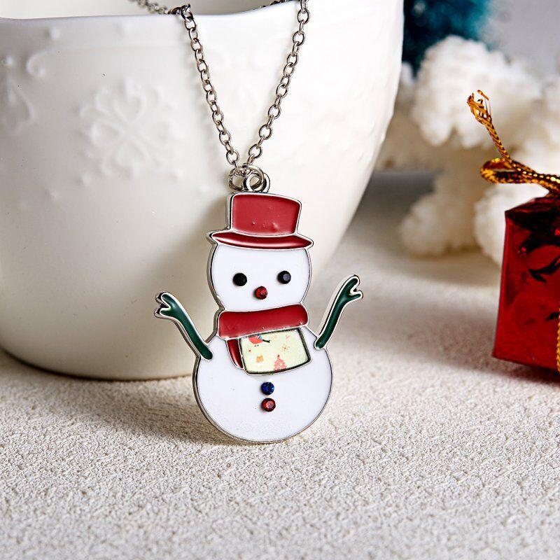 Random Style 5pcs K1110 Xmas Tree Bell Snowman Santa Claus Charm Pendant