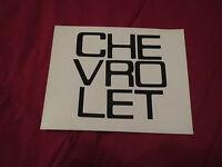 1981 – 1986 Chevrolet Truck Fleetside Tailgate Letters Decals Set Black