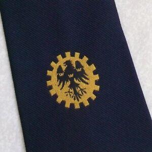 Constructif Vintage Cravate Homme Cravate Crested Club Association Société Navy Gold Eagle-afficher Le Titre D'origine