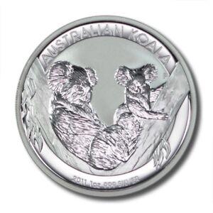 2013 Australia 1 oz Silver Koala Coin $1 Brilliant Uncirculated