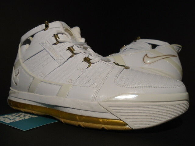 2006 NIKE ZOOM LEBRON III 3 WEST COAST WHITE gold DUST CTK SVSM 312147-114 11.5