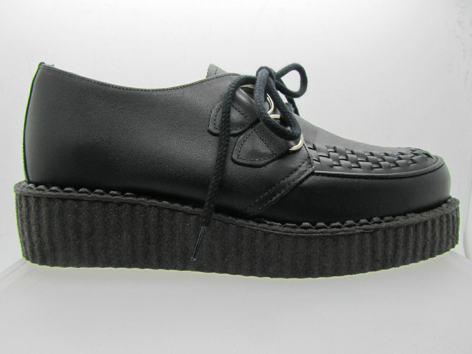 NEUF Rare Rétro Fait à la main UK Chaussures en cuir noir creepers rock punk goth fashions