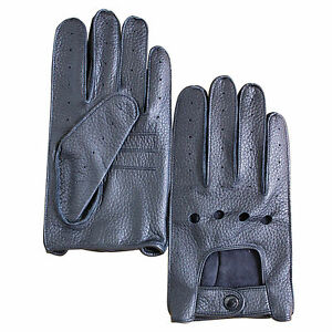 Jasmine-Silk-Men-039-s-Genuine-Deer-Skin-Leather-Driving-Gloves