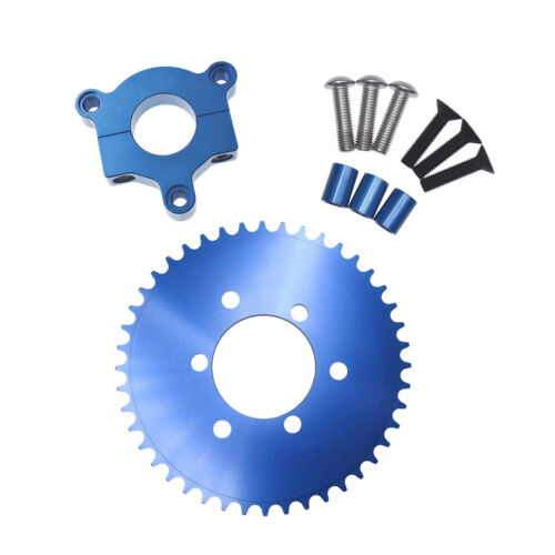 """Blue 44T CNC Sprocket With 1.5/"""" Adapter Fits 60cc 66cc 80cc Motorized Bicycle"""