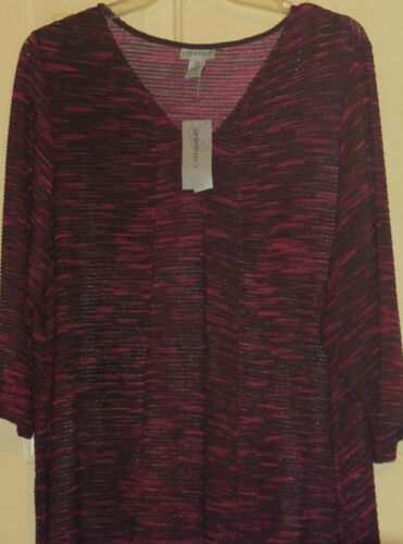 Womens Nwt 24 Top Berry Long 2x Maglione Wine Catherines 22 Purples PqCOSPU