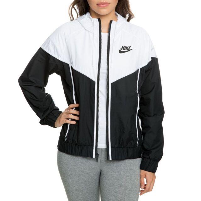 Nike Windbreaker Womens Jacket Black And White Windrunner