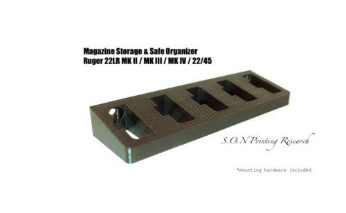22//4522LR Magazine Holder Storage Rack Mount MK IV Ruger MK II MK III