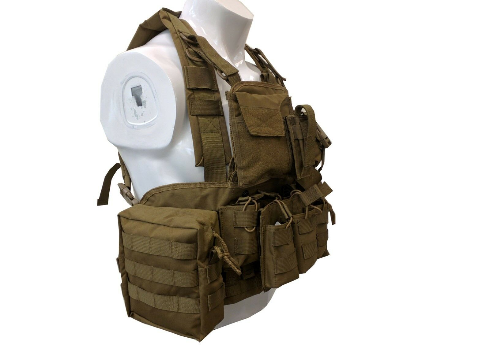 Military Army Fans Carrier Outdoor Outdoor Outdoor Tactical Sports MOLLE Gear Adjustable Vest 21 00e3db