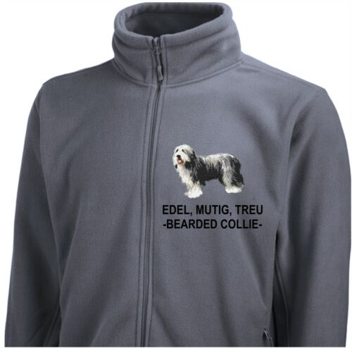 Collie Veste Dog Body polaire Bearded Jacket Broderie Siviwonder Par qOrZOtwT