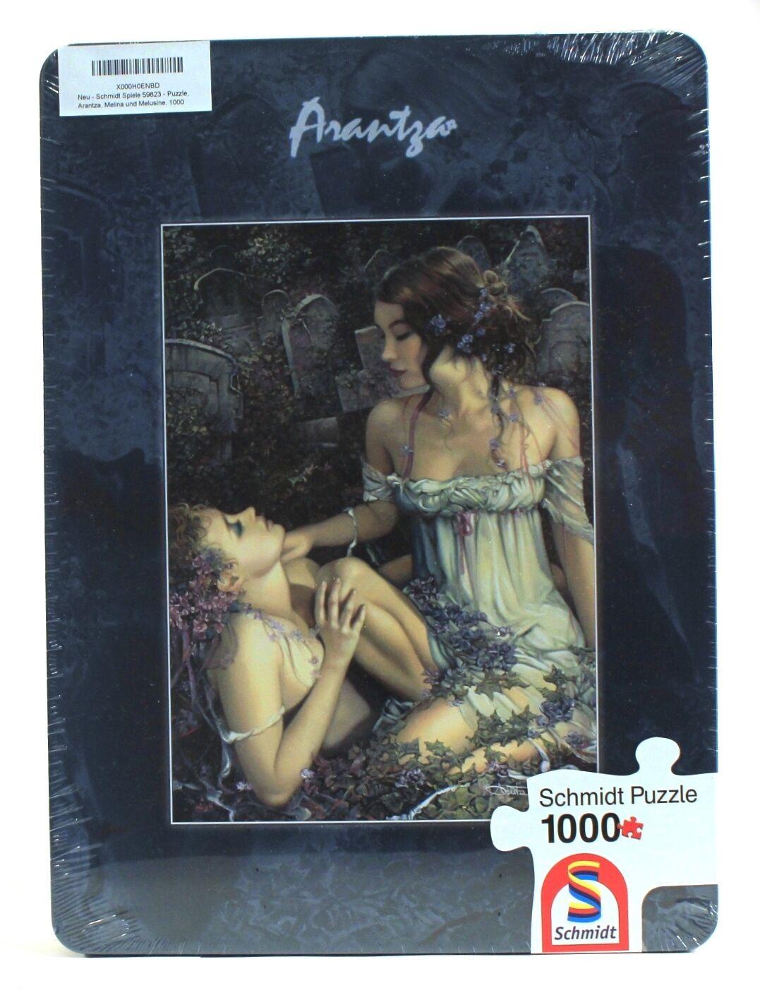 2010 Schmidt MELINA + MELUSINE Puzzle ARANTZA SESTAYO  1000 pcs METAL scatola sealed  protezione post-vendita