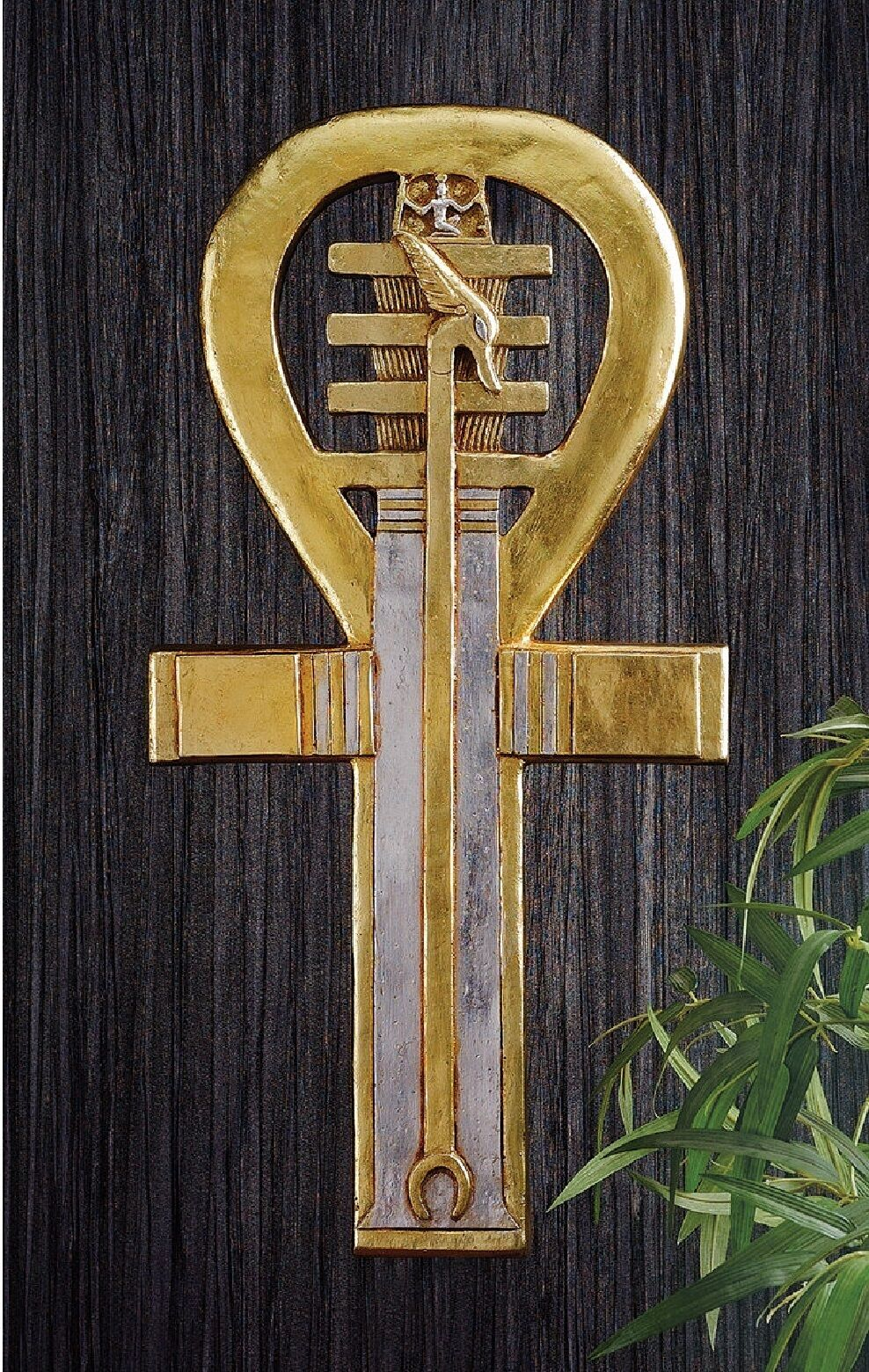 Egyptian cultures ethnicities collectibles egyptian ankh pharaoh holds power eternal life symbol wall decor sculpture gold biocorpaavc