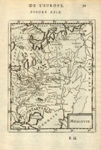 RUSSIA//UKRAINE /'Moscovie/' Muscovy Moscow Smolensk Novgorod MALLET 1683 map