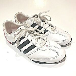 save off a0989 0560b Image is loading Adidas-Womens-Vibetouch-White-Pink-Black-Striped-Lace-