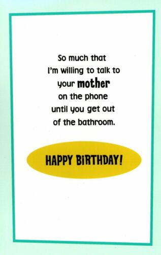 Funny Happy Birthday Wife Love You Enough To Talk To Mother-In-Law Hallmark Card