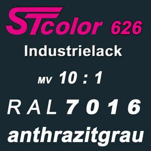 Details zu 1,1 kg STC 2K PUR Industrielack 10:1 RAL 7016 anthrazitgrau Lack  Set mit Härter