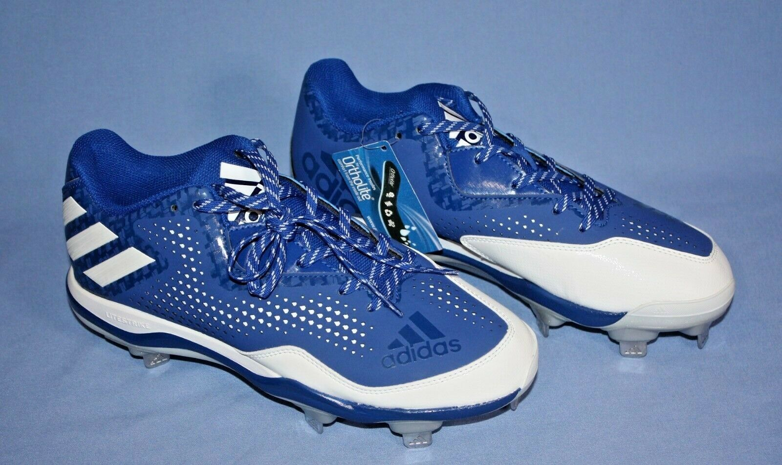 Adidas Power Alley 4 cleats mens baseball shoes size 8.5 9 bluee white new