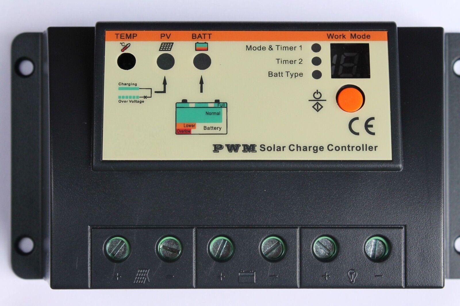 20A 12V   24V Solar Charge Regulator Controller for Solar Panels Battery